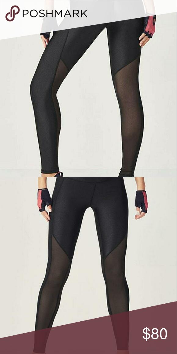 306c5a1b283aa Fabletics Rocha Shine Leggings Shiney leggings with mesh at the bottom. Fabletics  Pants Leggings