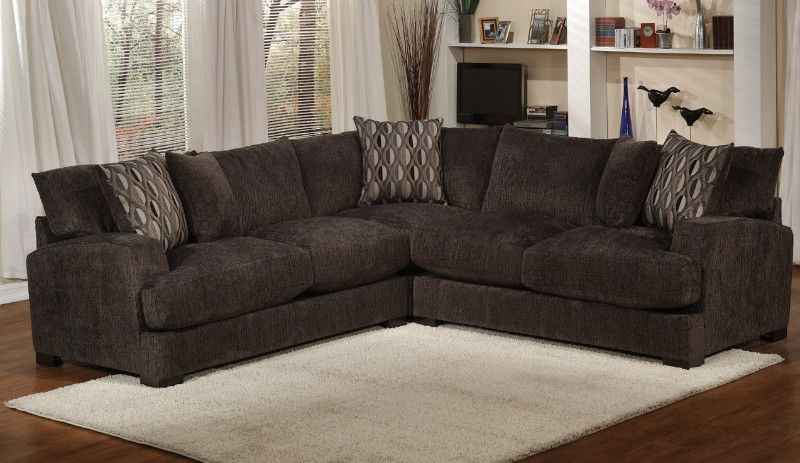 3 Pc Shakespeare Charcoal Chenille Fabric Upholstered Sectional Sofa Upholstered Sectional Sectional Sofa Sectional