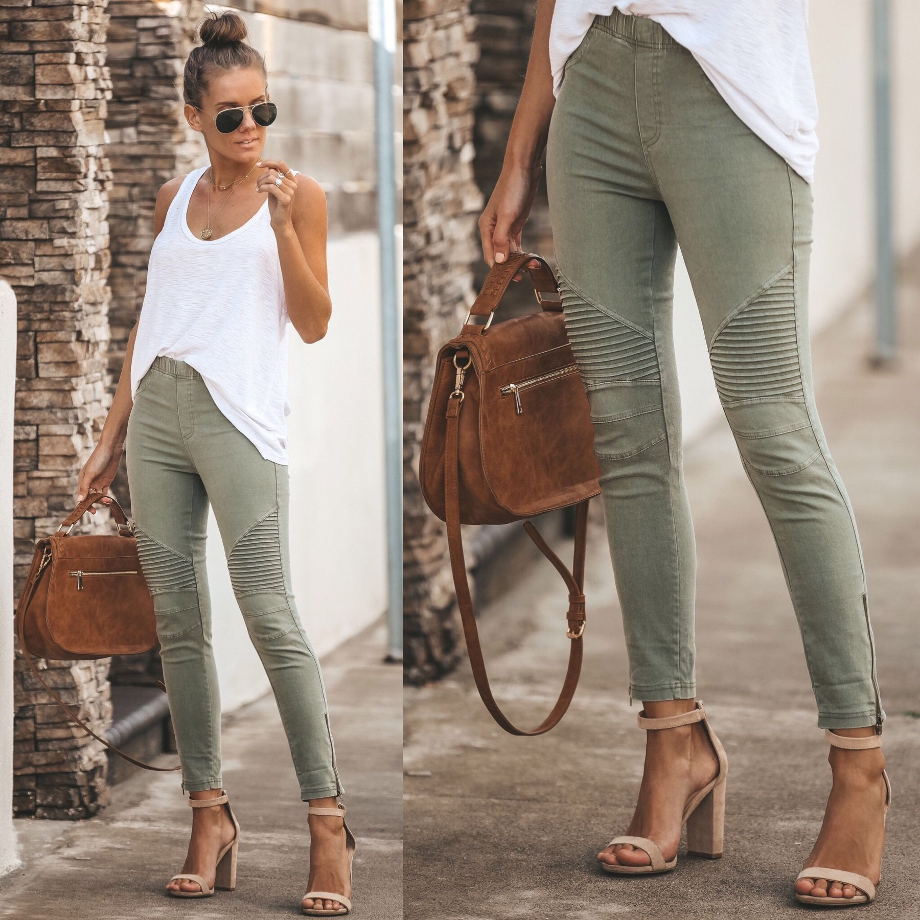 9856547e49283c VICI // BESTSELLER // MUST HAVE Piper Jegging $38 – Olive Also available in  Dark Grey, Black and Off White Click to shop our website or follow us at ...