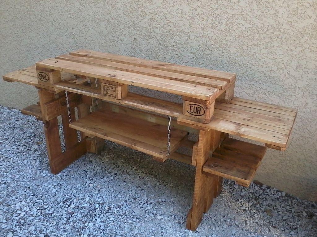 meuble plancha par edpalettes printemps wood pallets pallet et pallet furniture. Black Bedroom Furniture Sets. Home Design Ideas