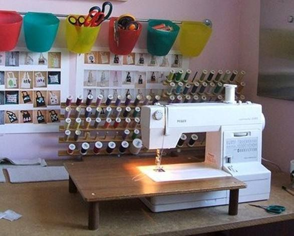 Mesa De Apoyo Para Maquina De Coser Organizacao Sala De Costura