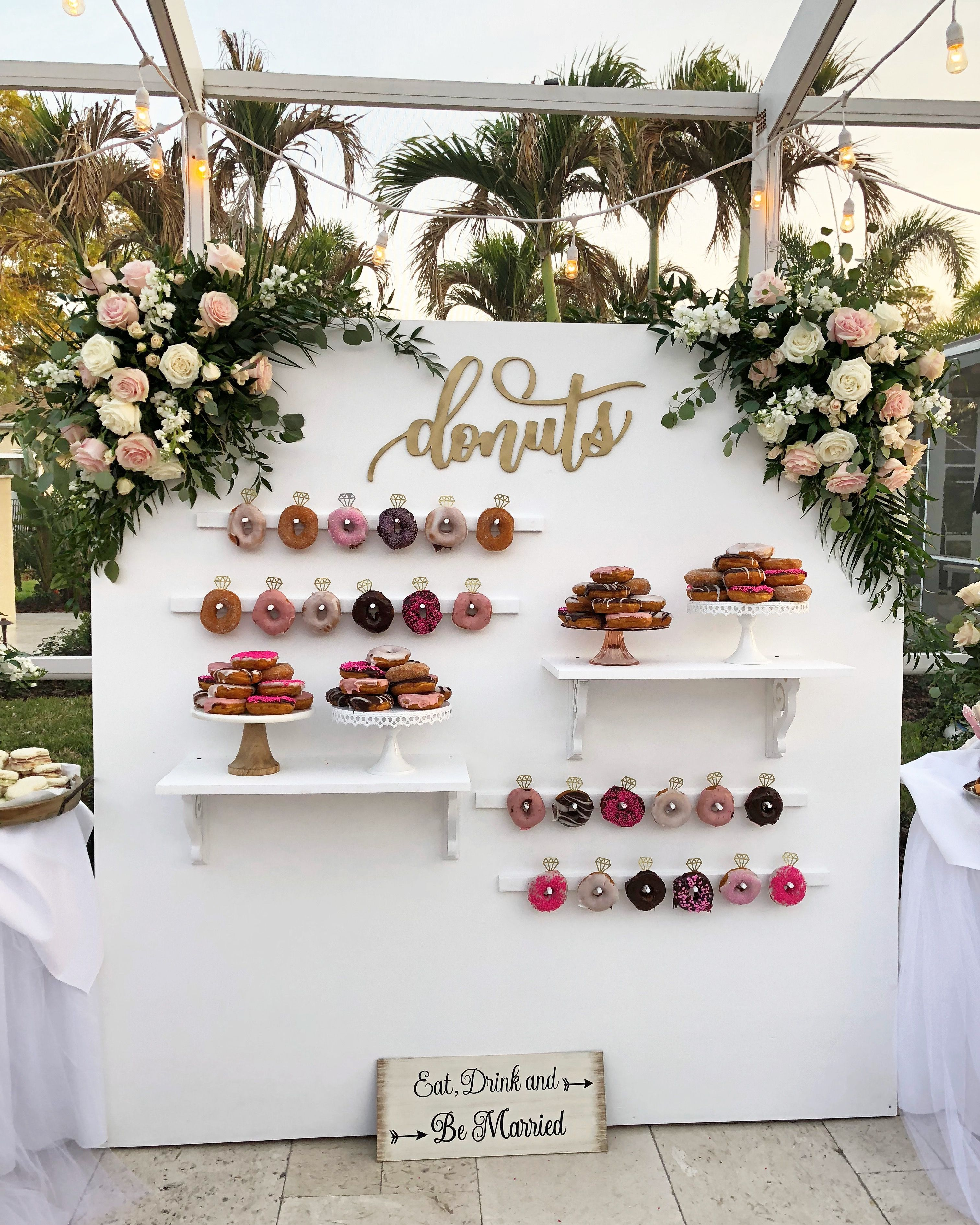 7 Popular Wedding Trends For 2019 According To Pinterest Donut Wall Wedding Wedding Donuts Wedding Trends