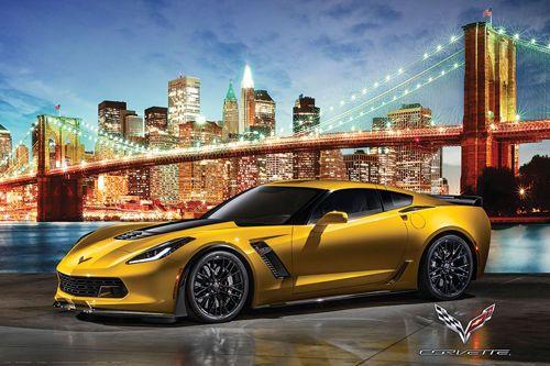 14.39 - Corvette Z06 York Night Ride Autophile Profile Cool Car Wall  Poster  ebay  Collectibles 8f6d79d3814d4