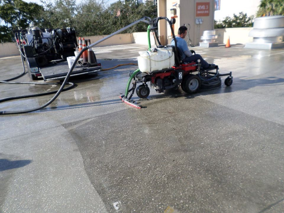 Hydrocleaning job still in progress at the Orlando Science
