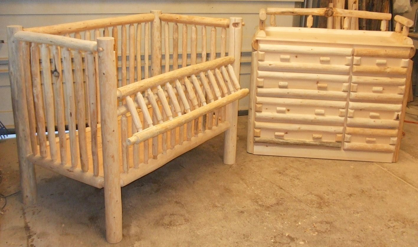 Custom Made Handmade Log Nursery Baby B