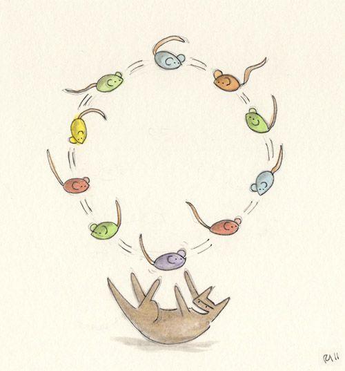 eatsleepsniff:  On the tenth day of Christmas, Eat, Sleep, Sniff gave to me ten catnip mice.