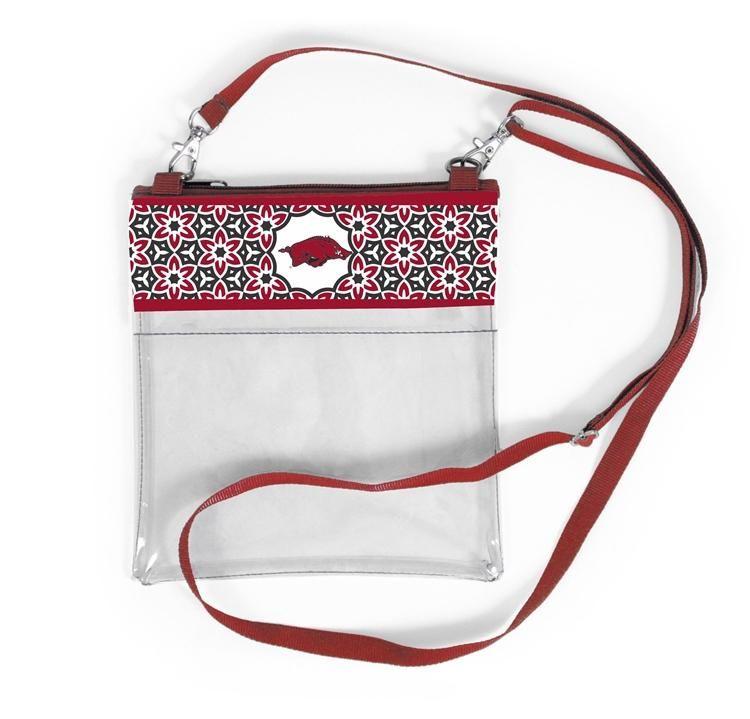 Clear game day crossbody arkansas crossbody bag purses