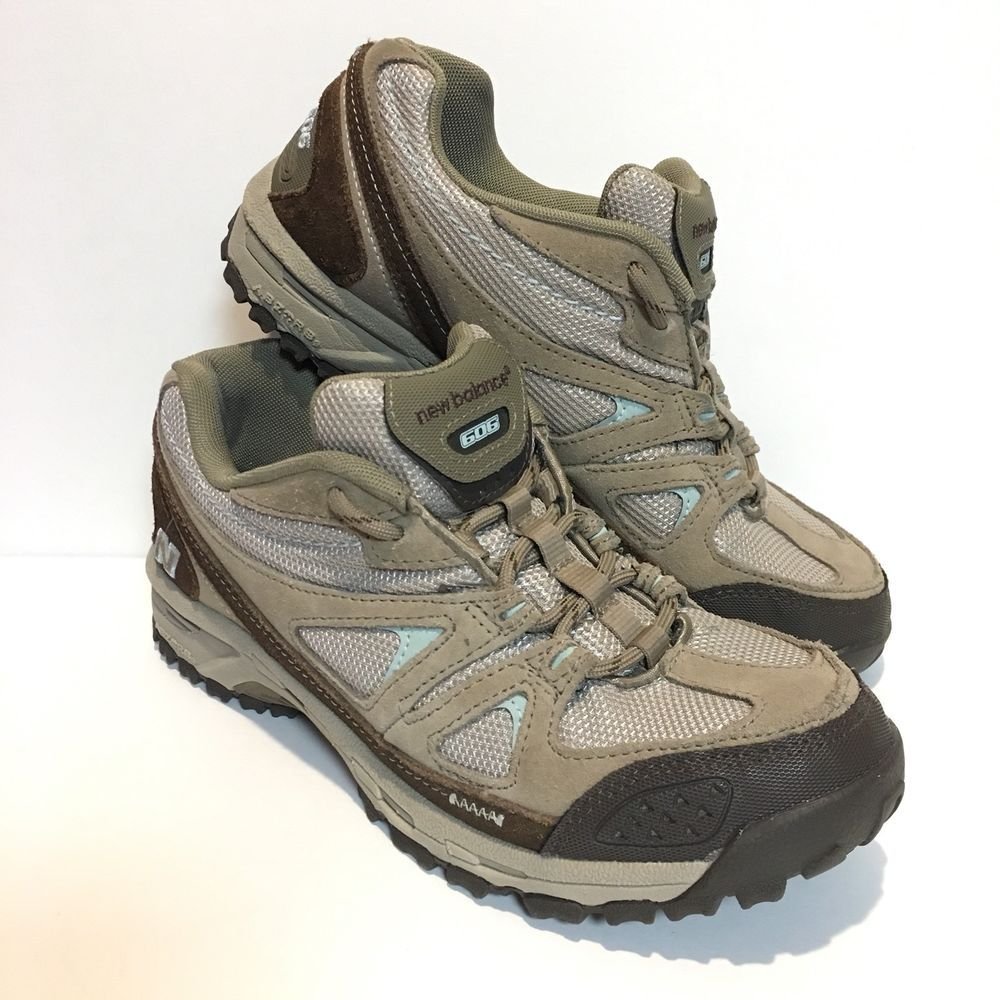 a4bad2417d2fa New Balance 606 Tan Brown Hiking Trail Sneaker Women Shoe Size 8.5 Suede  Leather | eBay
