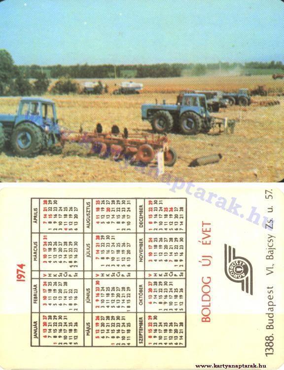 1974 - 1974_0366 - Régi magyar kártyanaptárak