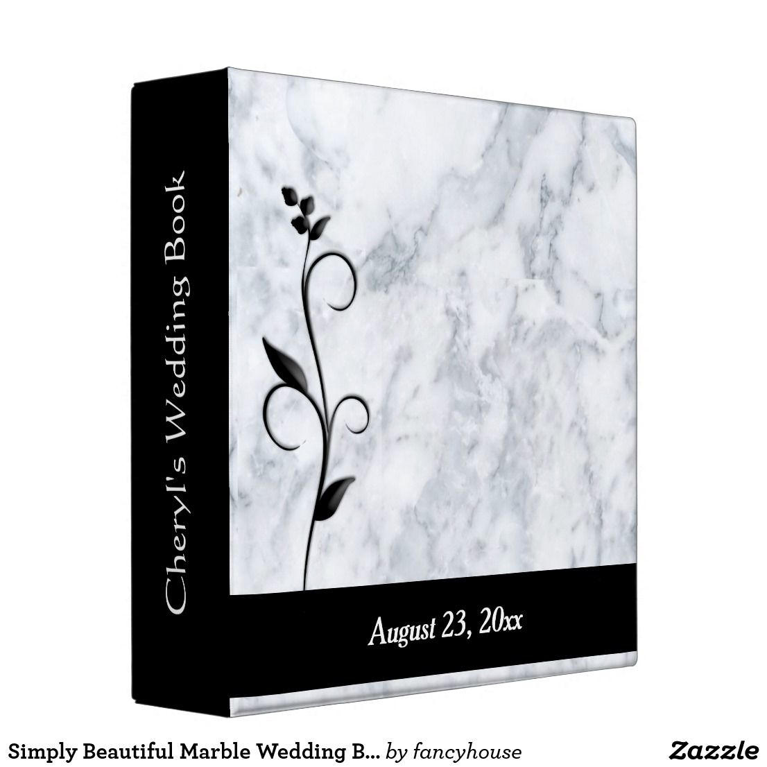 Simply Beautiful Marble Wedding Binder