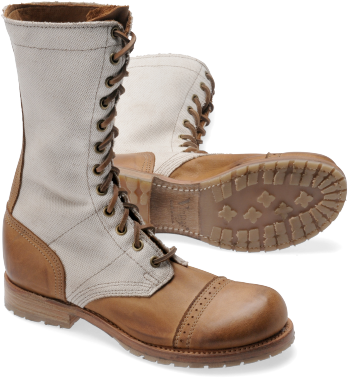 MOLLY Originally designed for Paratroopers in World War II, the jump boot  is crafted with