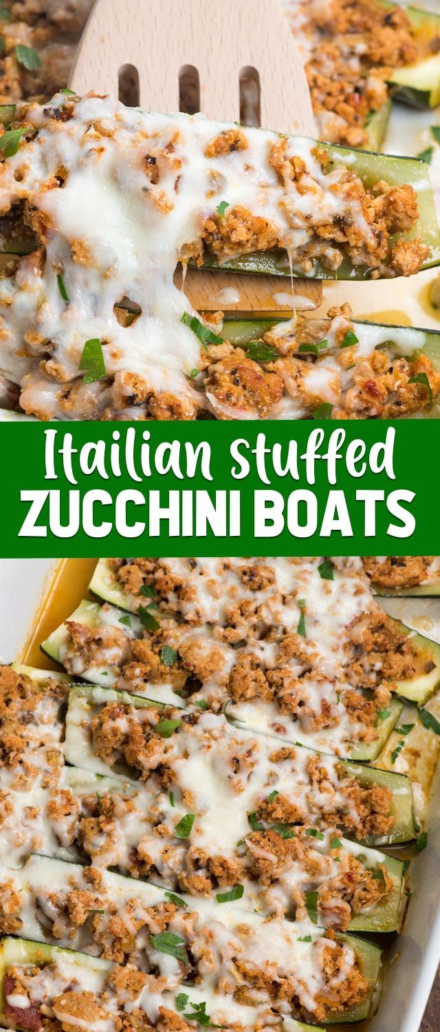 Stuffed Zucchini Boats - Crazy for Crust