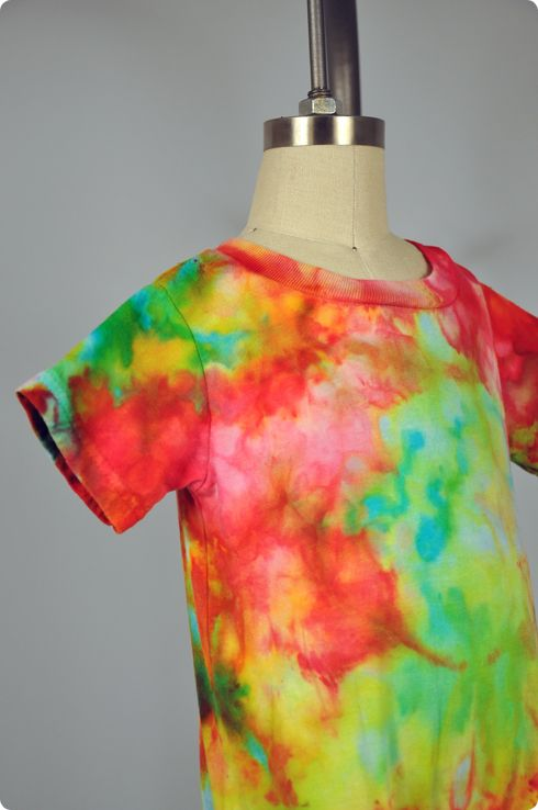 Ice dyeing - Dharma Trading Co. has a great tutorial on how to use melting ice to create cool effects (pun intended).