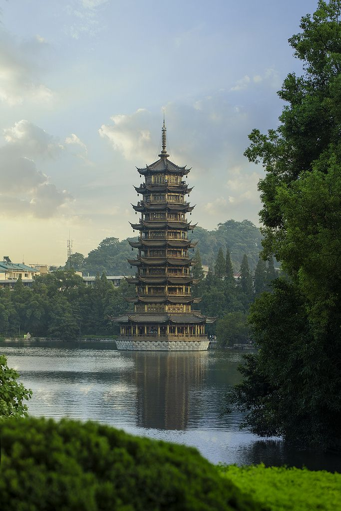 guilin pagoda china chinese architecture pinterest guilin