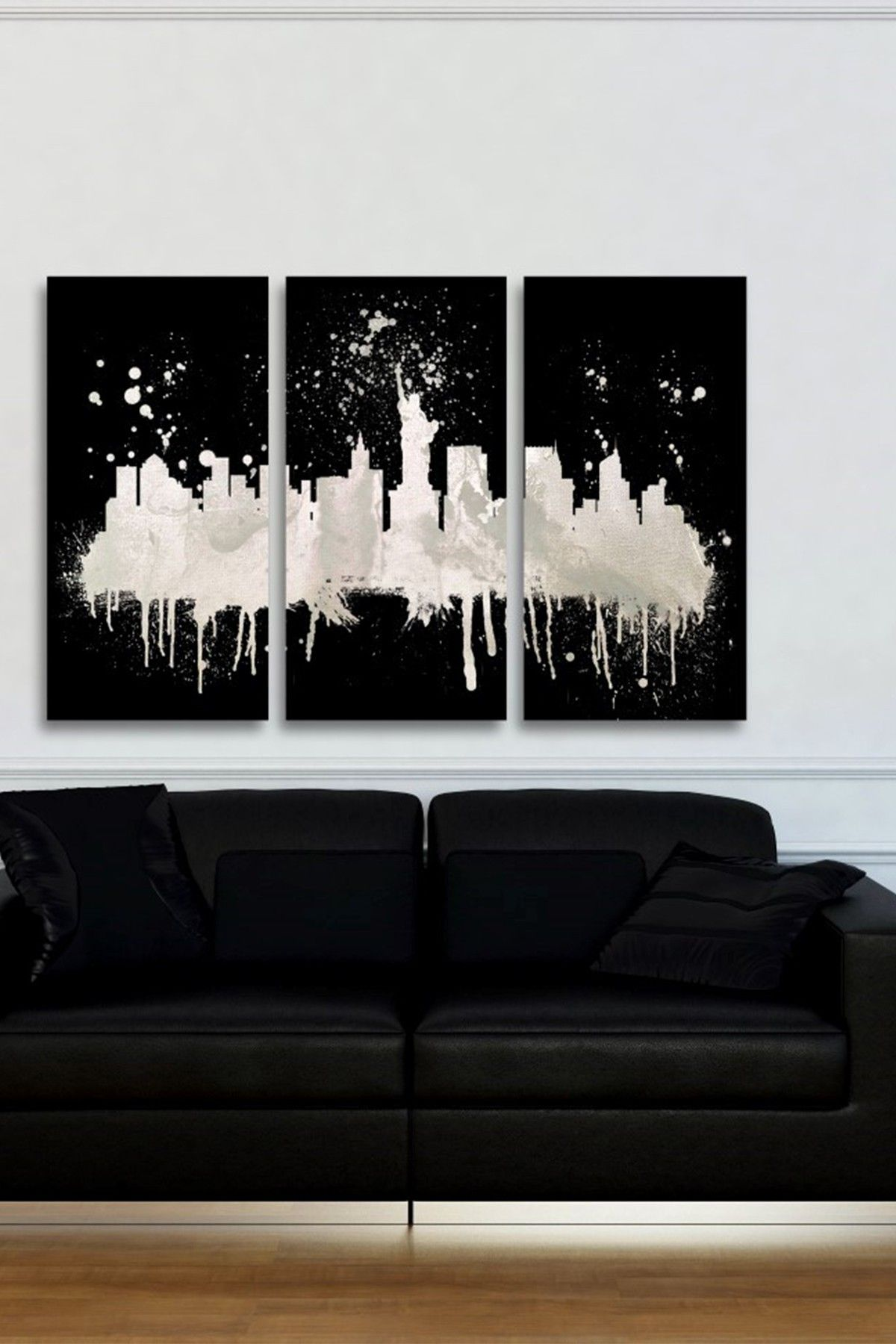 New York Skyline Canvas Wall Art   Set Of 3 | By The Oliver Gal Artist