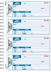 3 Part Blue Cash Receipt Books 4 Up To A Page Bound Book Good Essay Cover Letter Sample