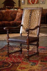 Axis Deer Hide Chair And Kilim Rug