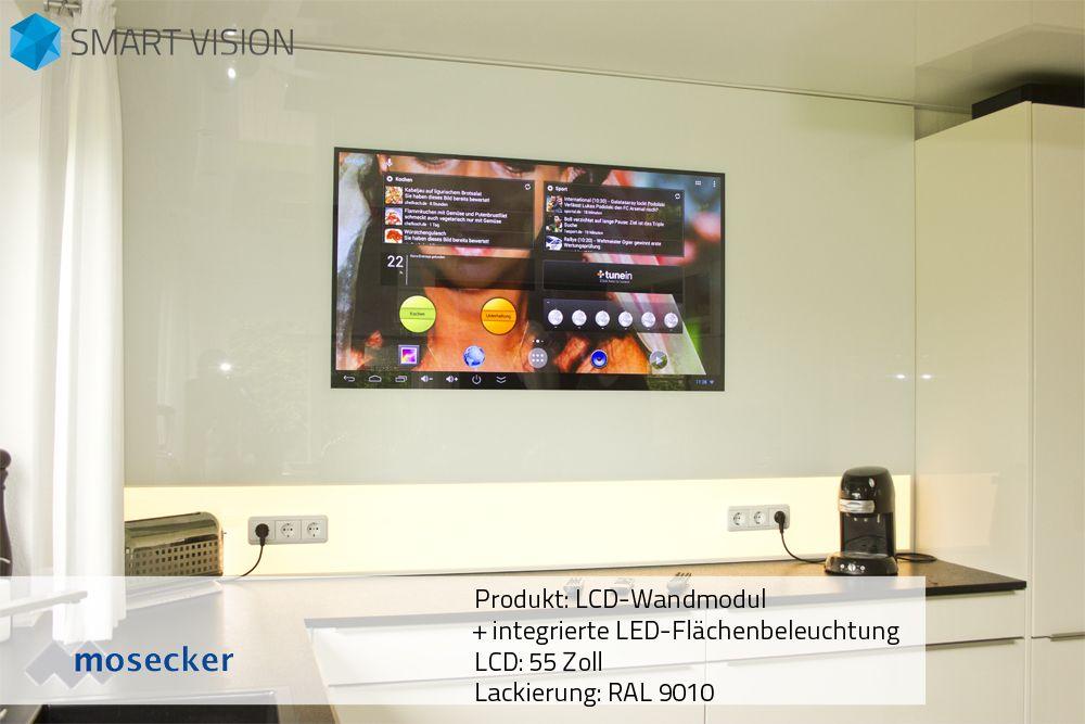 LCD-Wandmodul mit integrierter LED Flächenbeleuchtung 55 Zoll LCD - led panel küche