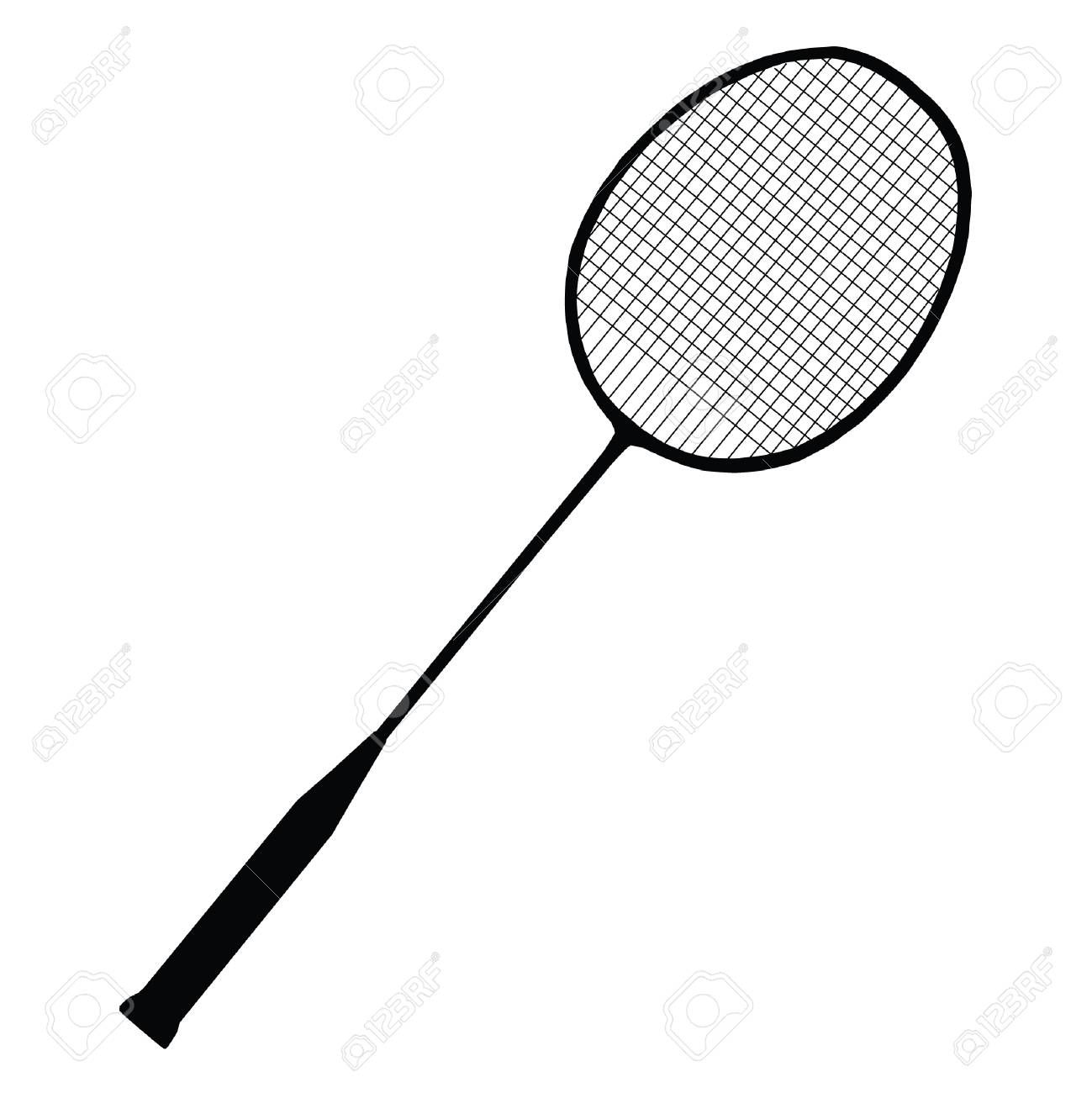 A Black And White Silhouette Of A Badminton Racket Sponsored White Black Silhouette R Badminton Racket Rackets Professional Business Cards Templates