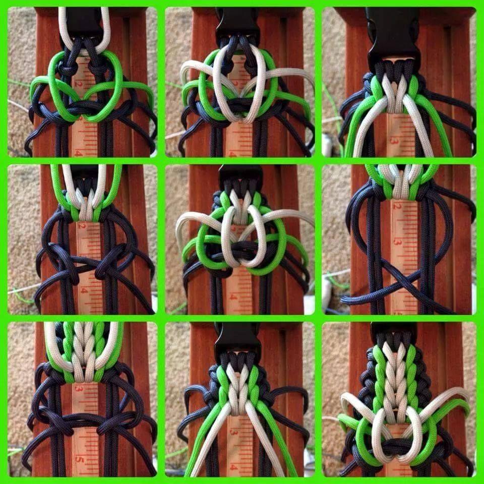 схема плетения браслета из паракорда в картинках