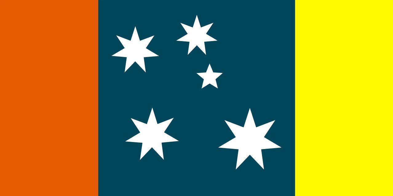 New Australian Flag Design UluruSky US18L-SCCS5L-AusTriColour-Ochre ...