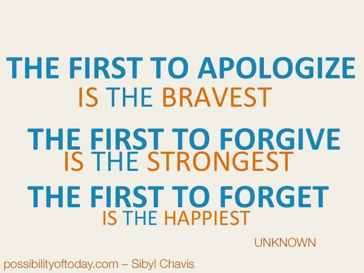 I'm sorry but I don't forget $#!+. I might forgive you, but I still remember what you did.