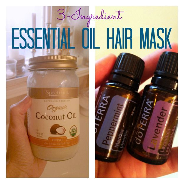 3 Ingredient Essential Oil Hair Mask Love This It S Perfect For My Frizzy Hair Coconut Oil Hair Essential Oils For Hair Coconut Oil Skin Care