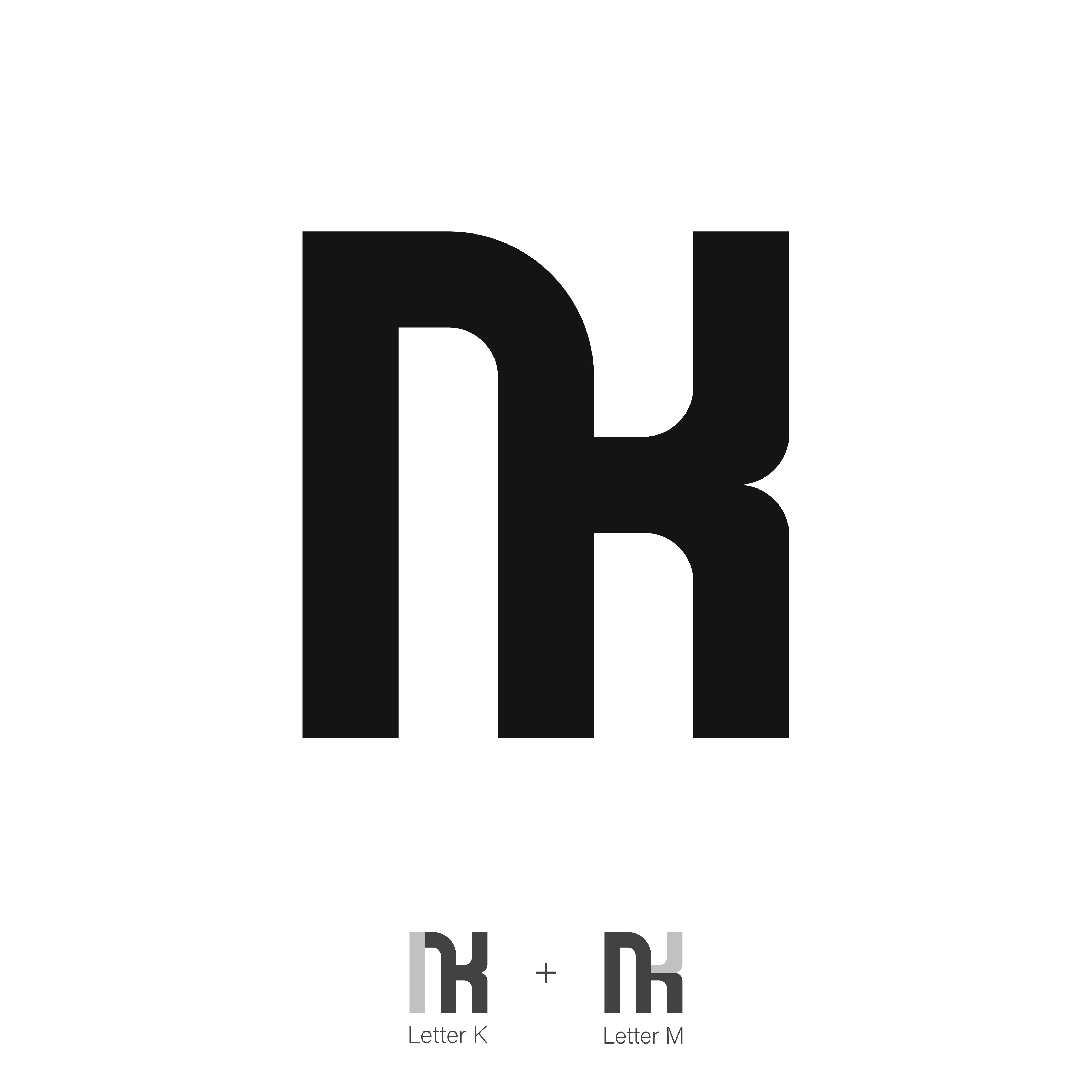 Km Monogram Logo Design Monogram Logo Design Logo Design Monogram Logo