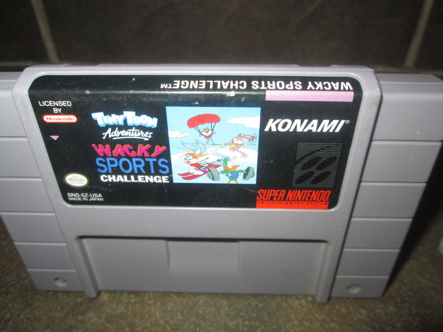 Super Nintendo Video Game, Tiny Toons Adventures Whacky Sports Challange, Classic Sports Game Cartridge, by FriendsRetro on Etsy