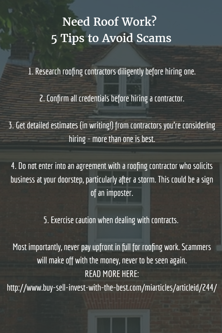 Need Roof Work 5 Tips To Avoid Scams Replacing Or Repairing A Roof