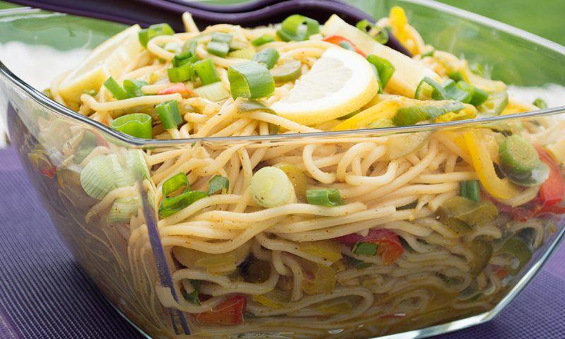 Leichte Sommerküche Thermomix : Spaghettisalat mit currydressing u2013 mixgenuss blog thermomix