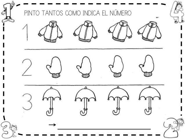 Fichas números 1-6 | NÚMERO 3 GRAFÍA Y CANTIDAD ETC | Pinterest ...