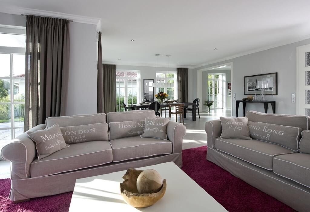 Interior Wohnzimmer Landhausstil Modern   Einrichtungsideen Villa Falkensee  Heinz Von Heiden Massivhaus   HausbauDirekt.de