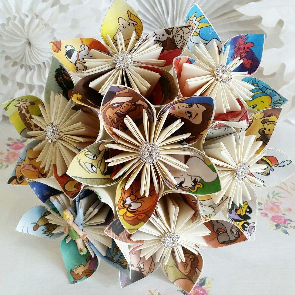 Paper flower bouquet origami alternative trending hot new for Romantic origami ideas