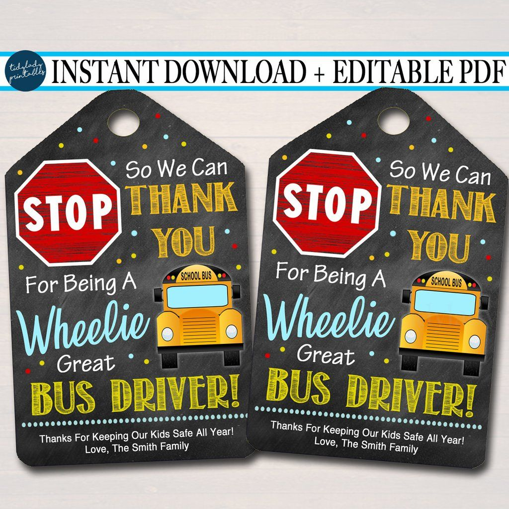 EDITABLE Appreciation Thank you Gift Tag, End of School Year