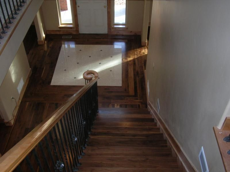 Front Foyer Tile Pictures : Tile inlayed in to the wood floor. want do this by our front door