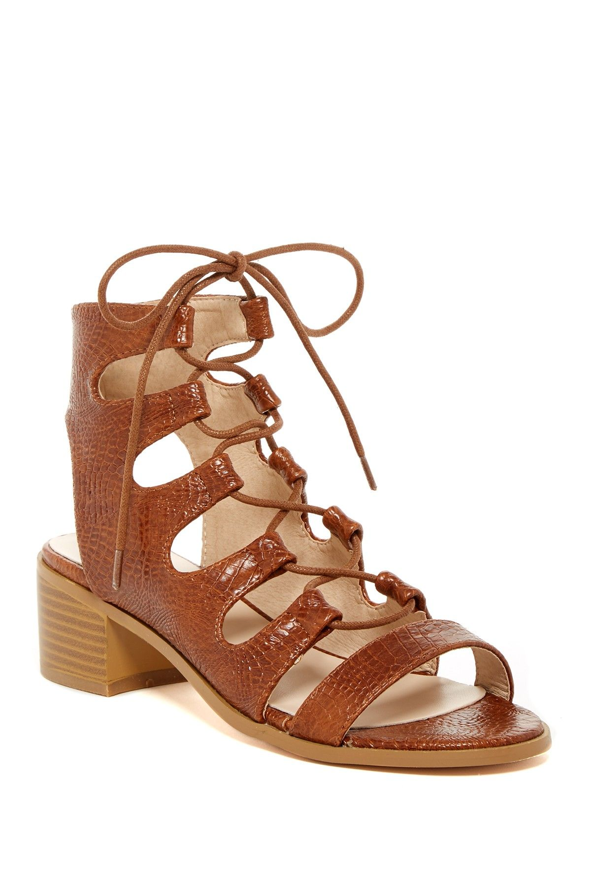 06abcdaf2 Adelaide Chunky Heel Sandal. Adelaide Lace-Up Sandal by Catherine ...