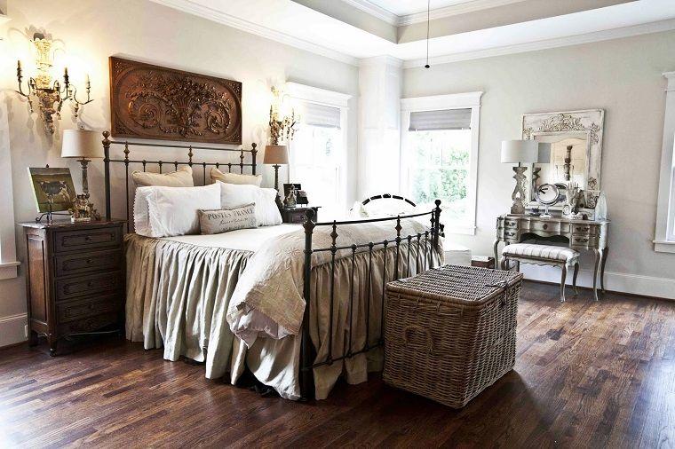 camere-da-letto-country-mobili-legno-ferro-battuto | English style ...