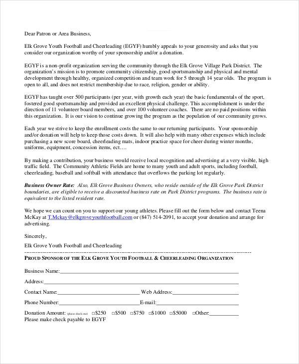 10+ Sponsorship Letter Samples | Word, Excel & PDF Templates | www