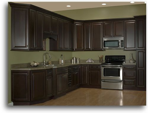 Painting Kitchen Cabinets Espresso Brown espresso stained cabinets | home > kitchen cabinetry > quincy