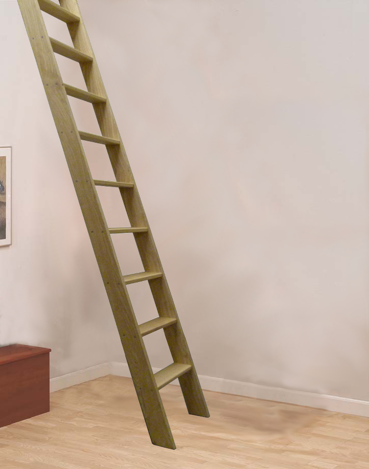 Best Loft Centre Hardwood Straight Flight Wooden Loft Ladder 400 x 300