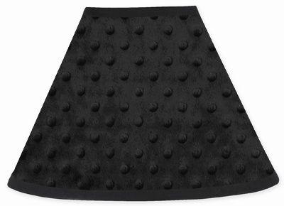 Sweet Jojo Designs Minky Dot Black Lamp Shade available at TinyTotties.com #tinytotties #kidsroomdecor