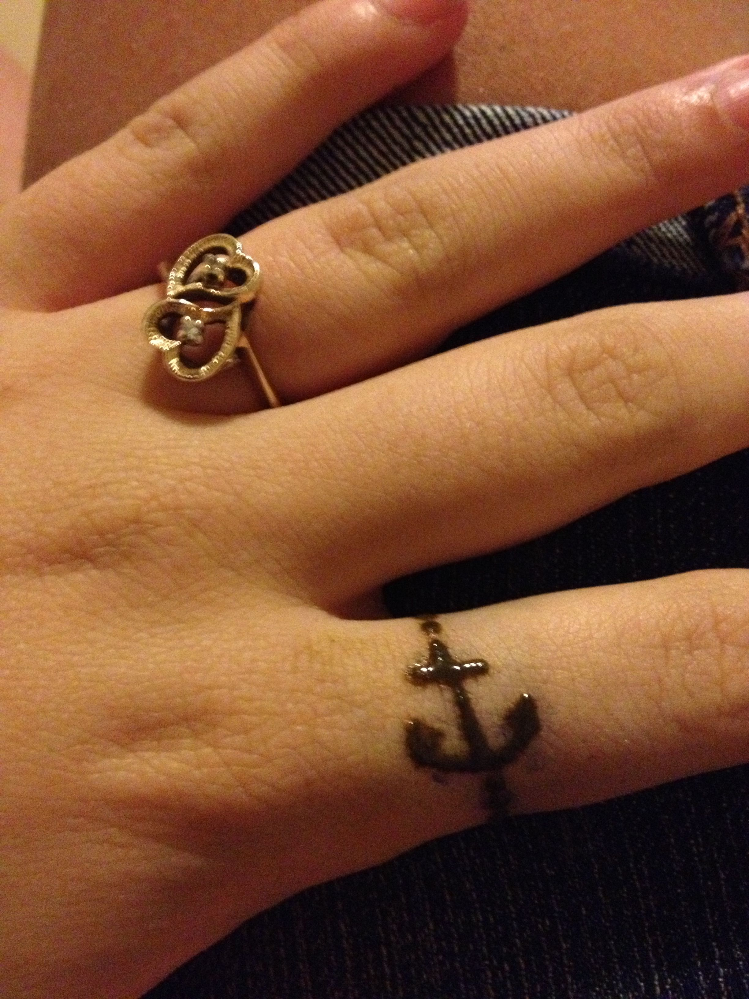 Anchor Henna Tattoo: Anchor Ring Henna Tattoo