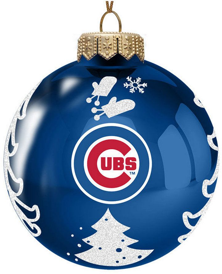 Cubs Christmas Ornaments.Memory Company Chicago Cubs Glass Christmas Tree Ornament