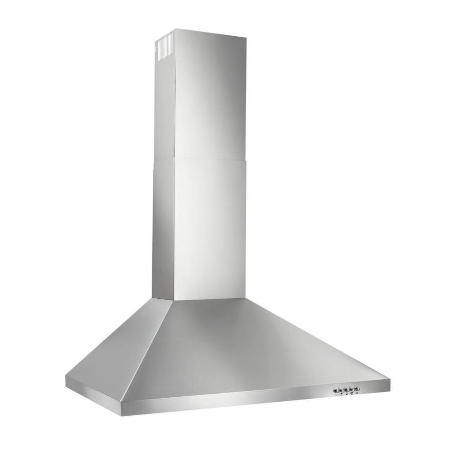 Broan 30 In Convertible Stainless Steel Wall Mounted Range Hood Lowes Com Range Hood Broan Steel Wall