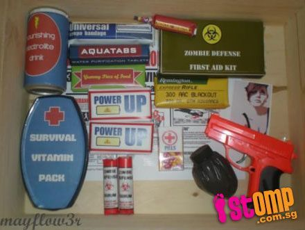 STOMP - Singapore Seen - Parent makes zombie apocalypse survival kit for son...out of candy #zombieapocalypseparty STOMP - Singapore Seen - Parent makes zombie apocalypse survival kit for son...out of candy #zombieapocalypseparty