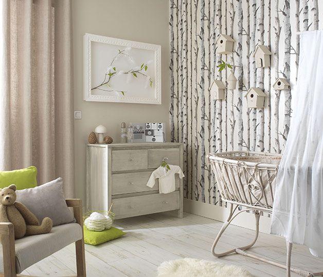 Illusion parfaite d 39 un coin bucolique dans la chambre avec for Decoration chambre nature