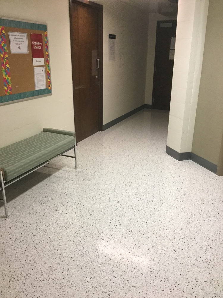 Admix In 36 X 36 Tile Installed In An Elevator Lobby