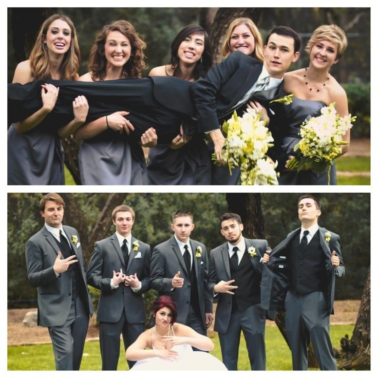 Groom With Bridesmaids & Bride With Groomsmen