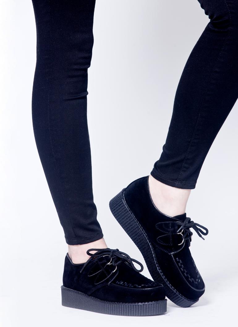 Botki Creepersy Zamsz Czarne I Monashe Pl Sklep Online Z Modna Odzieza Bluzki Sukienki Torebki Obuwie Akcesoria Womens Oxfords Oxford Shoes Shoes